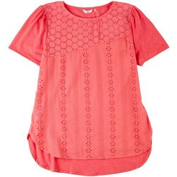 Kaktus Womens Dotted Lace Top