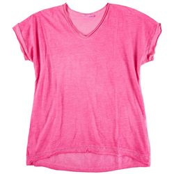 Kaktus Womens Solid Bright Top With Shiny lining