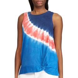Chaps Womens Tie-Dye Front Twist Tank