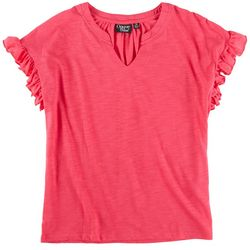 Onque Casual Womens Top With Flared Sleeves