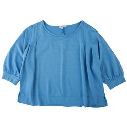 Sportelle Womens Rounded Neck Knit Top