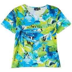 Onque Casual Womens Decorative Gemstone Short Sleeve Top