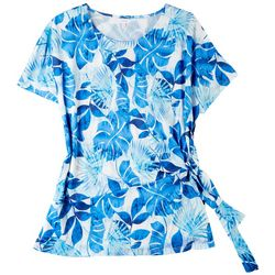 Coral Bay Womens Cool Foliage Short Sleeve Top
