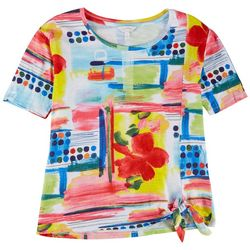 Coral Bay Womens Multi Pattern Summer Top