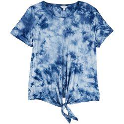 Coral Bay Womens Short Sleeves Tie-Dye Top