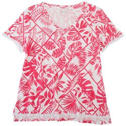 Coral Bay Womens Square & Leaves Top
