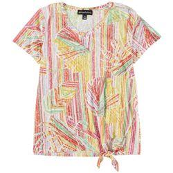 Thomas & Olivia Womens Printed Short Sleeve Top