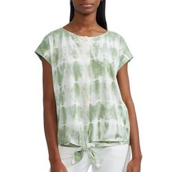 Chaps Womens Button Down Knoted Top