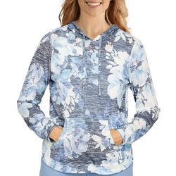 Alfred Dunner Womens Floral Pullover Long  Sleeve Top