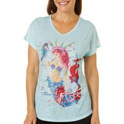 Leoma Lovegrove Womens Liberty Mermaid Dolman T-Shirt