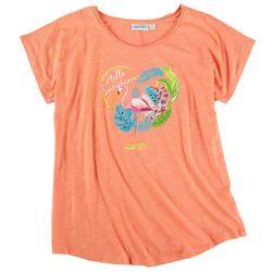 Kiwi Fresh Womens Hello Sunshine Flamingo T-Shirt