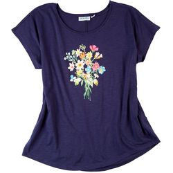 Kiwi Fresh Womens Florist Graphic T-Shirt