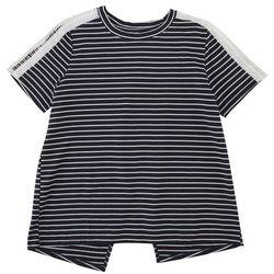 Silverwear Womens Striped Crochet Trimmed Top