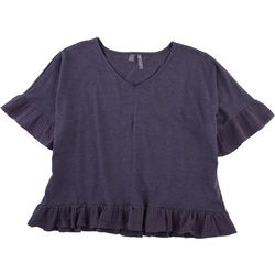 Silverwear Womens Solid Top With Babydoll Fit