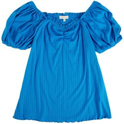 Status By Chenault Womens Squared Neck Top