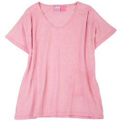 Stella Parker Womens Heathered Solid T-shirt