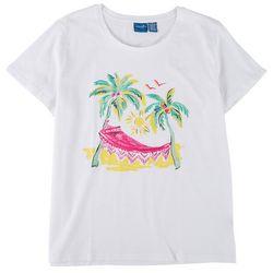 Caribbean Joe Womens Tropical Hammock Short Sleeve Top
