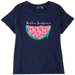 Caribbean Joe Womens Summer Watermelon Short Sleeve Top