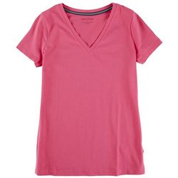 Nautica Womens Basic Fitted V-Neck Top