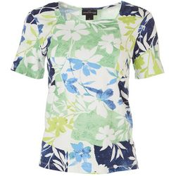 Alfred Dunner Womens Floral Square Neck Top