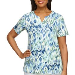 Alfred Dunner Womens Abstract Top