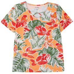Coral Bay Women's V-neck Short Sleeve Top