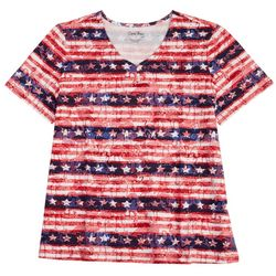 Coral Bay Womens Stripes & Stars Top
