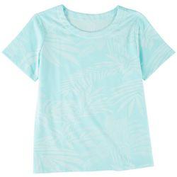 Coral Bay Womens Printed Short Sleeve