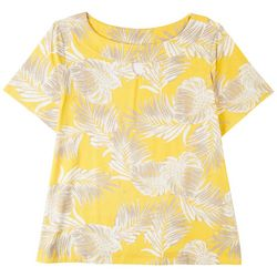 Coral Bay Womens Boat Neck Tropical Top