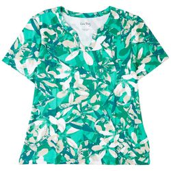 Coral Bay Womens Tropical Short Sleeve Top