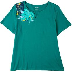 Coral Bay Womens Palm Leaves Top