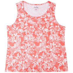 Coral Bay Womens Tropical Sleeveless Top