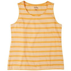 Coral Bay Womens Striped Scoop Sleeveless Top