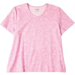 Coral Bay Womens Printed Henley Top