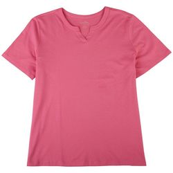 Coral Bay Womens Solid Sweetheart Top