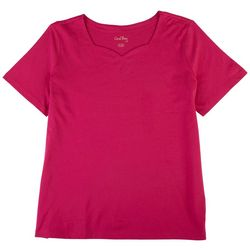 Coral Bay Womens Sweeatheart Neckline Top