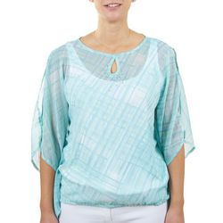 Hearts of Palm Womens See Through Overlay Top