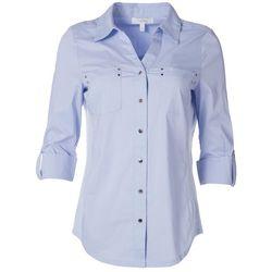 Coral Bay Womens Button Down Basic Shirt