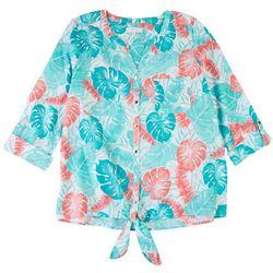 Coral Bay Womens Foliage Shirt