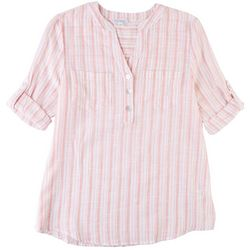 Emily Daniels Womens 3 Button Placket Shirt