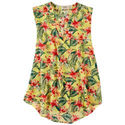 Cure Apparel Womens Floral Sleeveless Top