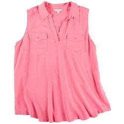 Khakis & Co Womens Solid Sleevless Top