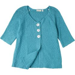Hailey Lyn Womens Button Up Sweater