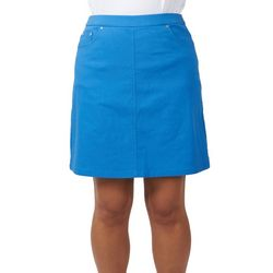 Hearts of Palm Womens Solid Tech Stretch Skort