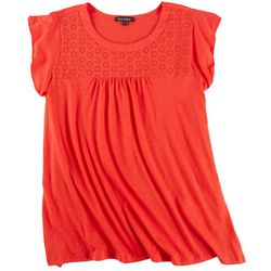 Tint & Shadow Womens Chest Lace Top
