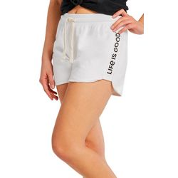 Life Is Good Womens All Cotton Solid Color Shorts