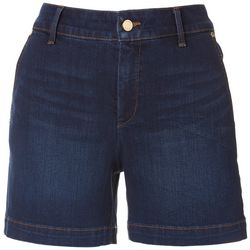 Anne Klein Womens Denim Trouser Shorts