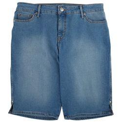 Gloria Vanderbilt Womens Denim Bermuda Shorts