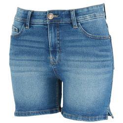 Angels Womens Side Cut Denim Shorts