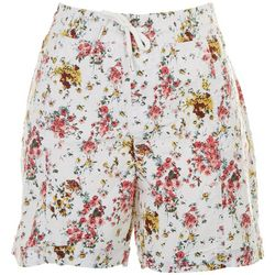 Fresh Womens Floral Pull On Shorts